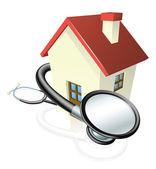 Koncepce domu a stetoskopem