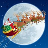 Santa Claus flying in his sleigh No transparency used Basic (linear) gradients