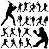 Set of baseball player