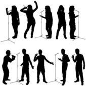 Set of singing