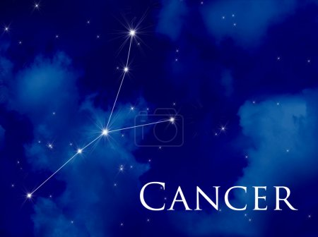 Постер, плакат: Constellation Cancer, холст на подрамнике