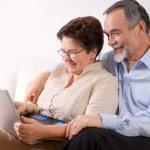 thumbnail of Senior couple using laptop