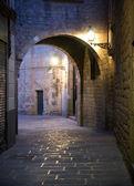 Schmale Straße in barcelona