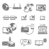 Komunikace vektorové ikony
