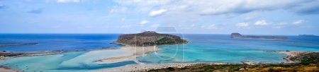 Постер, плакат: Panorama Balos bay, холст на подрамнике