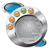 Vector illustration web site template design. Modern web page de