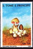 São Tomé Postage Stamp Paddy Straw Mushroom Volvaria Volvacea