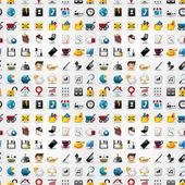 Seamless web icons pattern Vector illustration