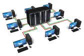 Netzwerk- und Internetkommunikationskonzept