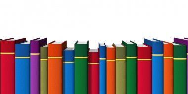 Row of color books