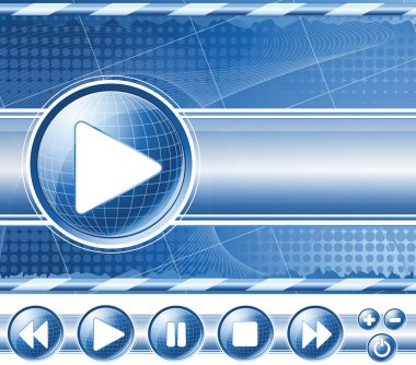 Background with multimedia player controls