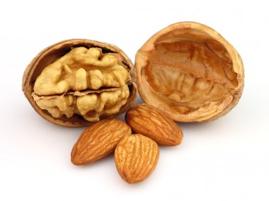 Walnuts with almonds