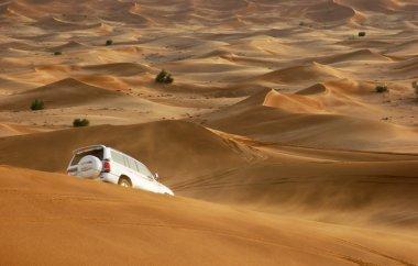 Jeep safari in the sand dunes