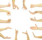 kezek-ra egy fehér