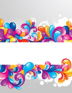 Colorful background with space for your message stock vector