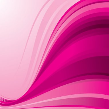 Pink ribbon wave