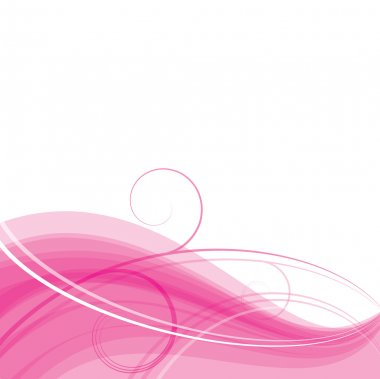 Pink light floral wave. Background. clip art vector