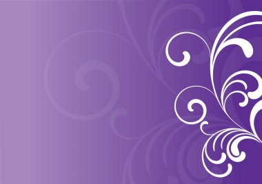 Purple background with floral elements