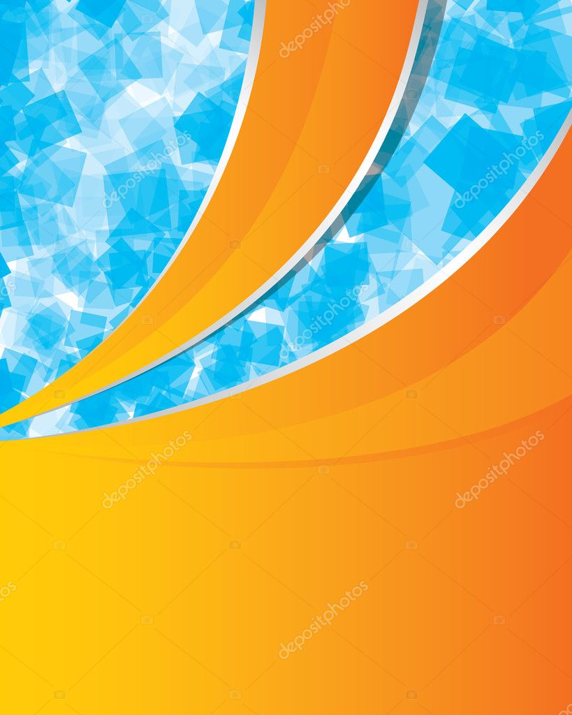 Orange and blue vector background — Stock Vector © krabata ... |Orange And Blue Vector Background