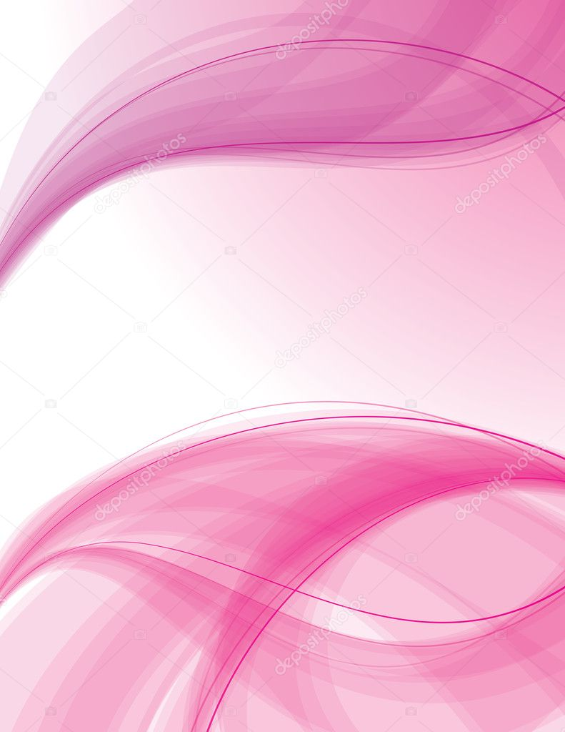 Transparent waves on white background