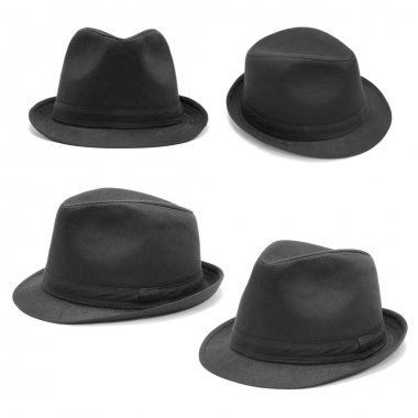Set of black hats