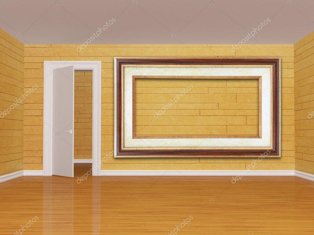 leeren Raum mit Tür und Bilderrahmen — Stockfoto © sommersby #7631574