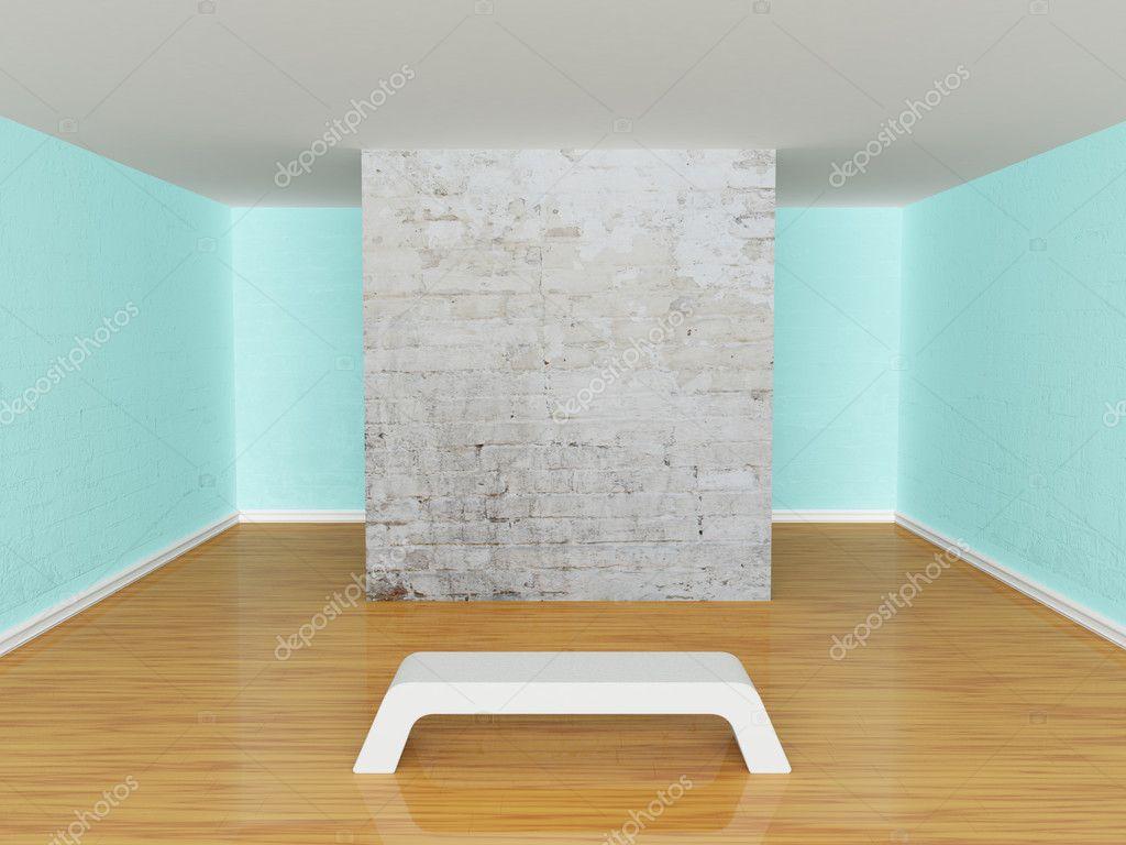 Galerie der Halle mit Sitzbank — Stockfoto © sommersby #7683908