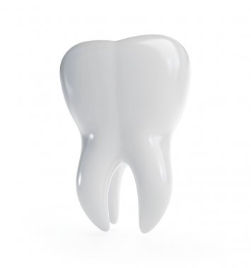 3d tooth on a white background