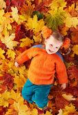 Fényképek gyermek narancssárga ősz