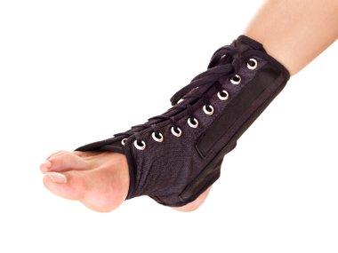 Trauma of ankle brace.