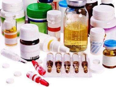 Blister pack of pills. Medicament.