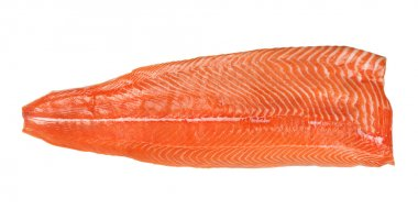 Salmon fillet isolated on a white background