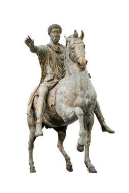 Constantine emperor isolated