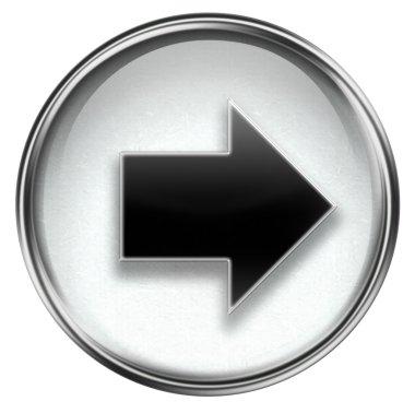 Arrow right icon grey