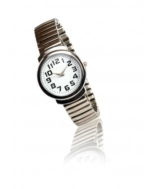 Steel Wristwatch On White