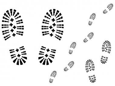 Shoe prints.