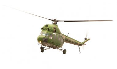 Helicopter MI-2, Russia on a white background