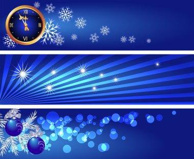 Set Christmas banners