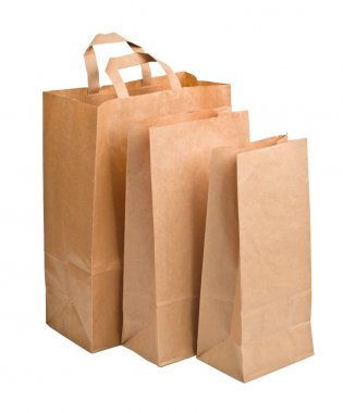 Paper Bags isolated on white