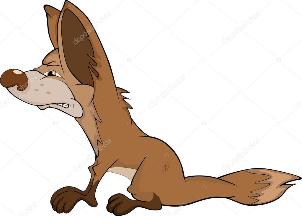 Wile e coyote mascotte del fumetto del costume di fantasia