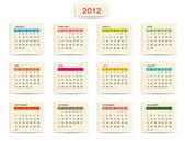 Fotografie Vector calendar 2012 for your design