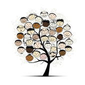 Tree with faces for your design