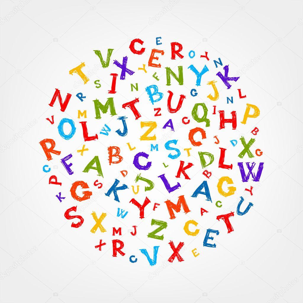 marco de dibujo con letras para su diseño — Vector de stock ...