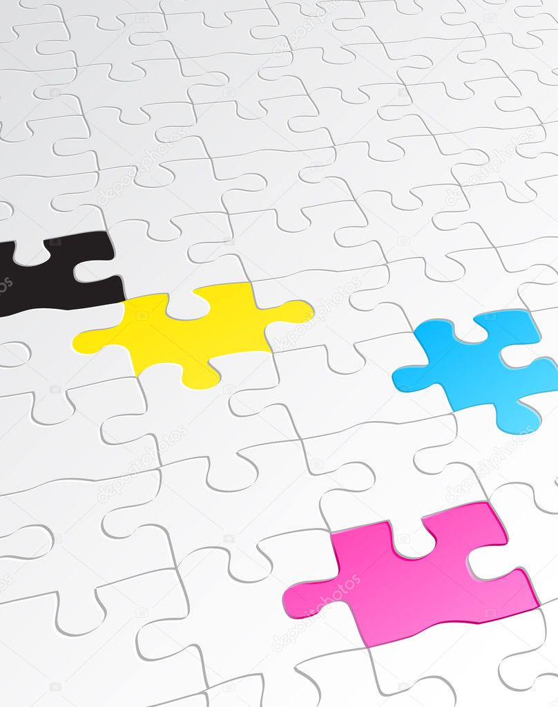 Jigsaw puzzle — Stock Vector © ladyann #6919432