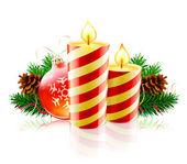 Fényképek karácsonyi dekoratív kompozíció