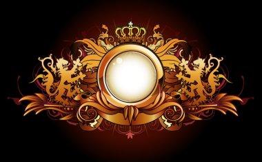 Heraldic golden frame