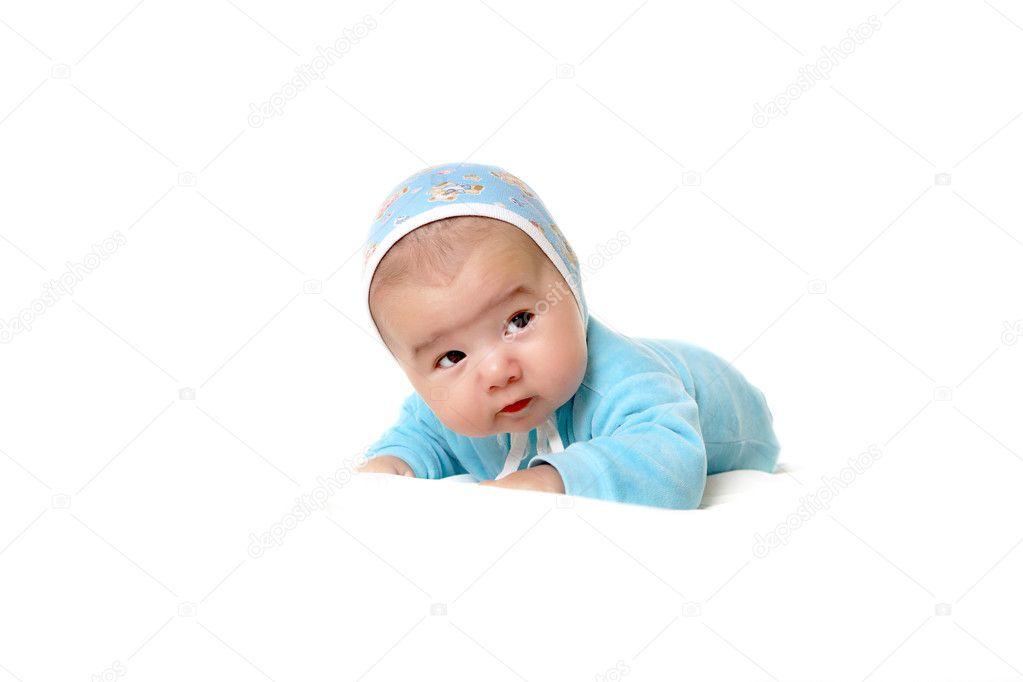 Portret van een babyjongen baby u stockfoto sergeynivens