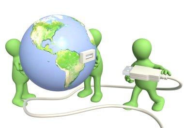 Conceptual 3d image - global communication stock vector