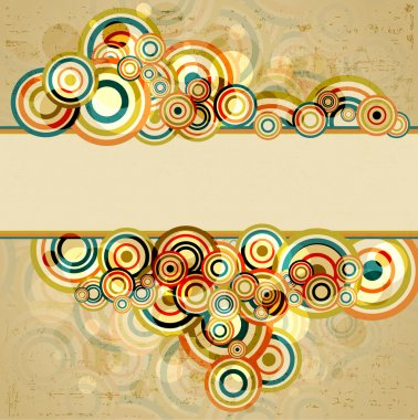 Abstract retro background, vector illustration