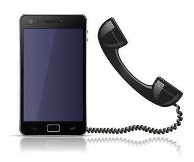 Old school telephone handset for smartphone